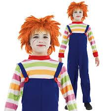 child s halloween costume kids childs play evil doll chucky movie halloween fancy dress