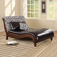 coaster accent seating zebra animal print chaise lounge in cherry 550061 550061 coaster furniture
