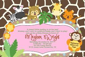 Gift Card Baby Shower Invitations Amazon Com Baby Shower Jungle Invitations Tiger Zebra Giraffe