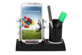 desktop cell phone and pen holder waupc2210 gif