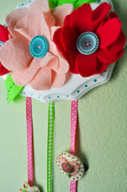 hair clip holder flower garden hair clip organizer kunin felt