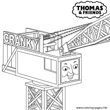 thomas the train cranky s4d84 coloring pages printable