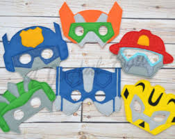 transformers rescue bots party supplies rescue bots mask etsy