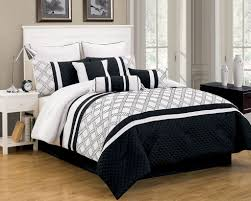 Twin White Comforter Black And White Fun British Style Her Side His Side Bedding Sets