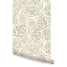 gold roses wallpaper peel and stick