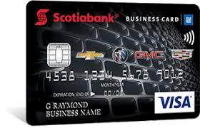 Visa Business Card Scotiabank Gm Visa Business Card Scotiabank