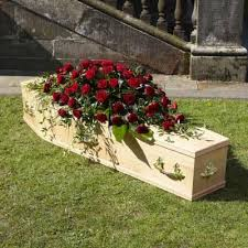 funeral casket roses casket spray funeral flowers leicester funeral flowers