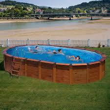 rivestimento in legno per piscine fuori terra piscina fuori terra rivestita in legno di pino gre ovale serie