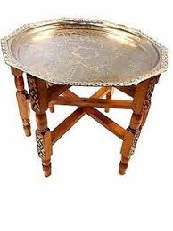 moroccan tea table stand moroccan brass plate table with stand shops set of and plates