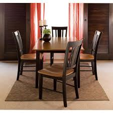 solid cherry dining room set international concepts 5 piece black and cherry dining set k57