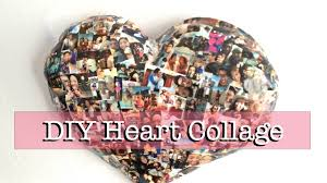 diy paper mache heart collage wall decor youtube