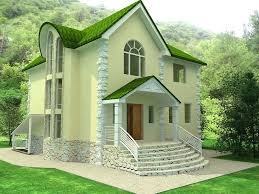 Small House Design by Small Green And Cream Home Exterior Design For Natural Living
