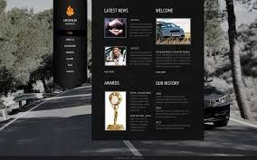 volvo website website template 42086 car rental auto custom website template