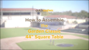 Amish Poly Outdoor Furniture by How To Assemble The Poly Garden Classic Outdoor Table Youtube