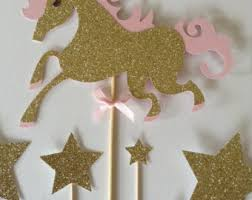 unicorn cake topper unicorn cake topper unicorn birthday party cake topper gold