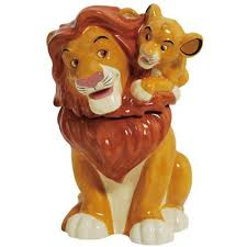 lion king simba mufasa cookie jar westland giftware lion