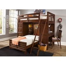 queen size loft bed with desk wayfair