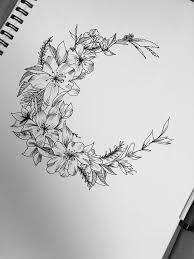 amazing flowers moon design