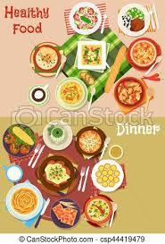 cuisine bulgare cuisine bulgare ensemble plats menu conception icône