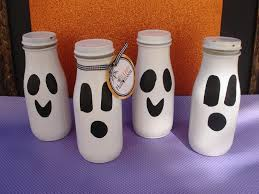 Halloween Jars Crafts by Ghost Candy Jars