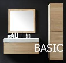 the basic bathroom furniture vanity set by line art is made of