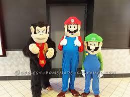 mario luigi and donkey kong costumes for kids donkey kong