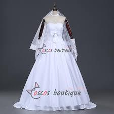 wedding dress anime fate stay white wedding dress saber fate zero