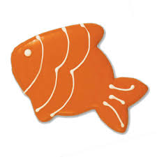 Decorated Gourmet Cookies Fish Shaped Cutout Cookies Gourmet Sugar Cookies Hand Decorated