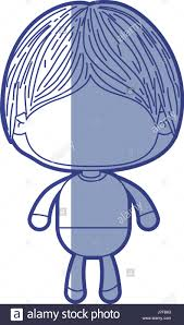 blue shading silhouette of faceless little boy with mushroom