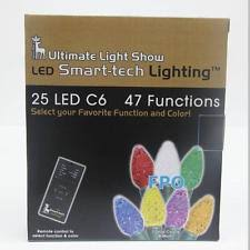 150 led c6 lights 150 led multi color icicle lights 8 functions w remote control 5pact