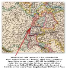 Alsace Lorraine Map European U0026 U K Maps The Brown Erbland Family History