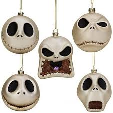 skellington glass ornament set from our