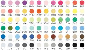 color chart copicmarkers com with an u0027s u0027 for savings