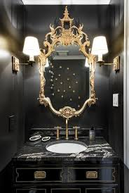 Powder Room Powell Ohio - gold and black powder rooms contemporary bathroom black