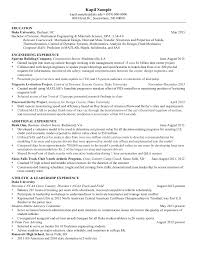 Resume Sample Of Mechanical Engineer Resume Mechanical Engineering Senior