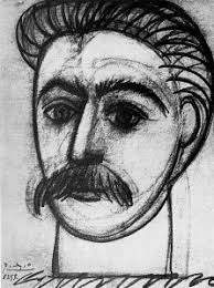 stalin by picasso or portrait of a woman with moustache espionart