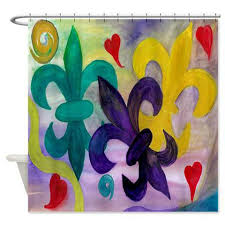 Fleur De Lis Shower Curtains Fleur De Lis Shower Curtains U2013 Art Gifts By The Beach