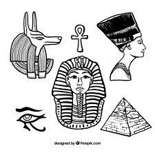 imagenes egipcias para imprimir dibujado a mano elementos egipcios descargar vectores gratis