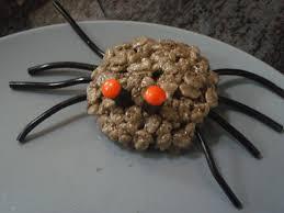 Halloween Crispy Cakes Fun Food Ideas Rice Krispie Spiders