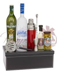 vodka gift baskets martini madness vodka gift basket by pompei baskets
