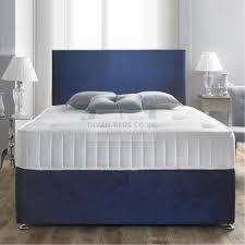 Crushed Velvet Bed Richard Crushed Velvet Divan Bed With Orthopaedic Spring Mattress