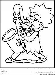 extraordinary simpsons coloring pages simpsons coloring