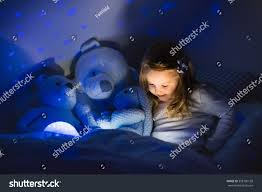 Stars On Ceiling by Little Reading Book Bed Dark Stock Photo 358100138 Shutterstock