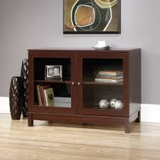Accent Cabinets by Homestar 2 Door 1 Drawer Glass Cabinet Walmart Com