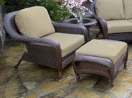 Vinyl Wicker Patio Furniture by Ottomans Patio Chair With Nesting Ottoman Outdoor Chairs With