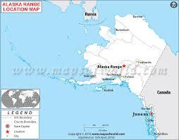 usa map alaska where is alaska range located in alaska usa