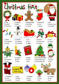 english exercises merry christmas