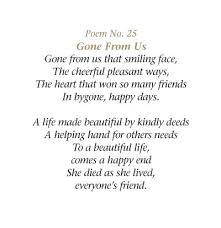 memorial poems for les 25 meilleures idées de la catégorie funeral verses sur