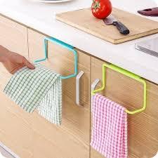 kitchen cabinet towel rack towel rack hanging holder organizer bathroom kitchen cabinet at rs