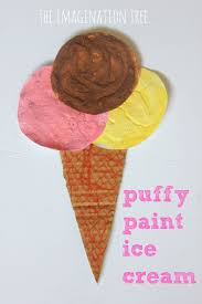 puffy paint ice cream craft the imagination tree